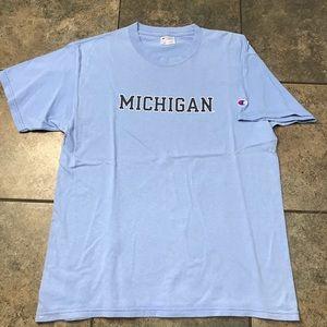 VTG 90's Champion Michigan S/S T-Shirt Size Large